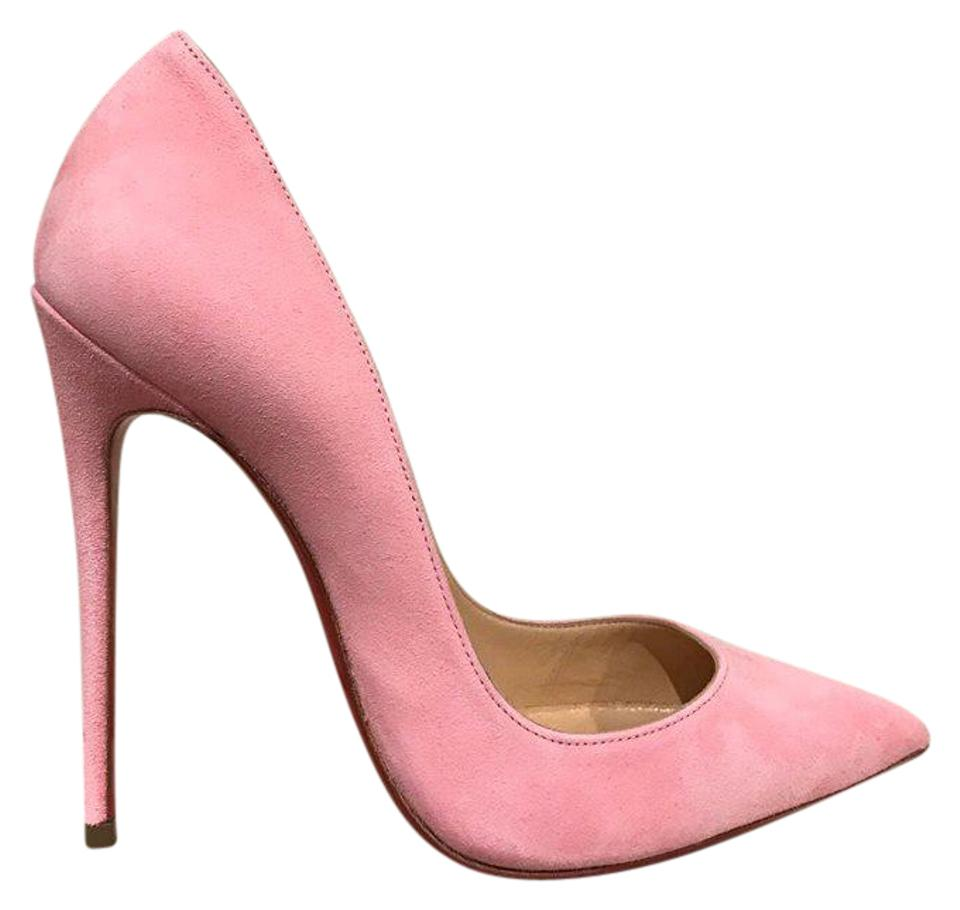 la meilleure attitude 81a44 32f8d Christian Louboutin Pink So Kate 120 Dolly Light Suede Heel 41 Pumps Size  US 11 Regular (M, B)
