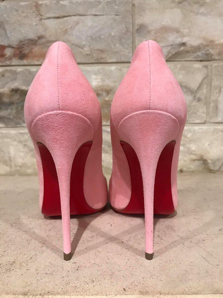 Christian Louboutin Pink So Kate 120 Dolly Light Suede Heel 41 ...