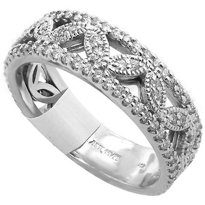 ABC Jewelry 14kt white gold diamond ring .50cttw h/si1 diamonds with detailing