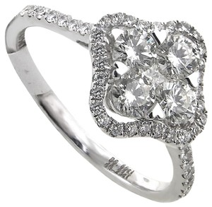 ABC Jewelry Fancy diamond ring with .83ct. Total weight round brilliant cut diamon