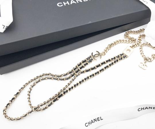 Chanel Chanel Brand New Leather Removable Camellia Long Necklace Brooch