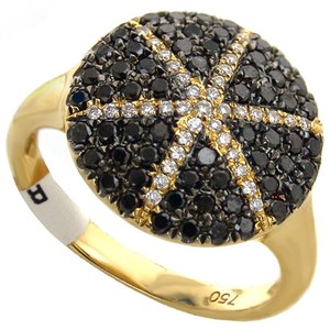 ABC Jewelry Black and white fancy diamond ring