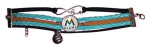 unbranded Miami Marlins Baseball Braided Infinity Bracelet
