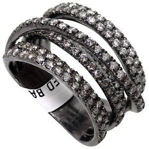 ABC Jewelry 1.17ct diamond band in 18kt black plated gold