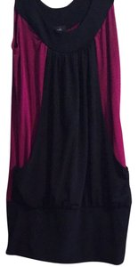 Fleurish short dress Purple/black on Tradesy