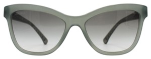 Chanel Green Opal Cat Eye Sunglasses 5330 1531/S3