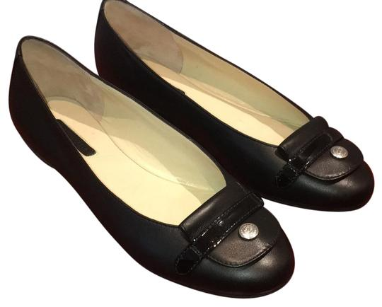 Preload https://item5.tradesy.com/images/longchamp-black-le-pliage-cuir-ballerina-flats-size-us-7-regular-m-b-21557959-0-1.jpg?width=440&height=440