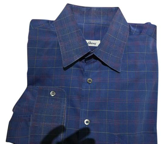 Preload https://item1.tradesy.com/images/brioni-blue-essential-windowpane-dress-made-in-italy-shirt-21557965-0-3.jpg?width=440&height=440
