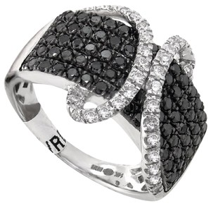 ABC Jewelry 1.32ct. Total weight black and white round diamond fashion band