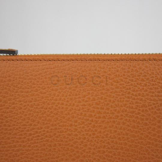 Gucci Gucci Dark Orange Leather Zip Around Wallet w/ Logo 332747 7614