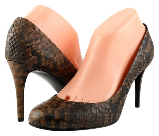 Giuseppe Zanotti Snakeskin Leather Eur 39 Designer Animal Print Pumps
