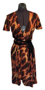 Just Cavalli Wrap Print Dress