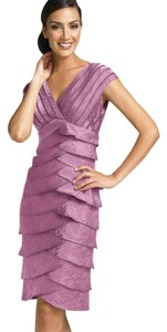 Adrianna Papell short dress purple Neck Tiered on Tradesy