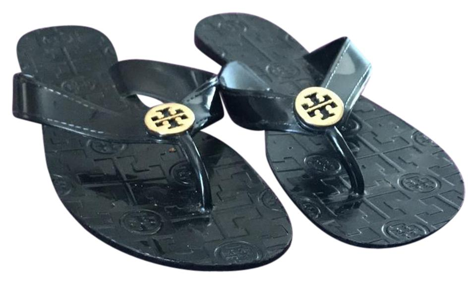 1ba048d0012 Tory Burch Black Monroe Thong Sandals Size US 7.5 Regular (M