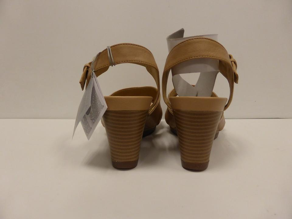43af309b5a9 Geox Natural D Rorie Women s Roxy Sandal Wedges Size US 8.5 Regular ...