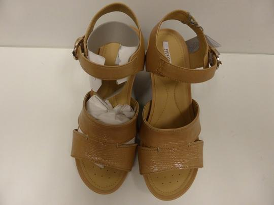 Geox Leather Sandals Natural Wedges