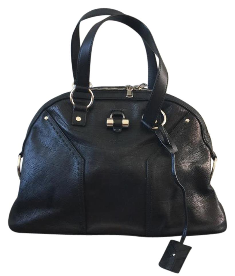 deeb5ccac51 Saint Laurent Muse The Black Leather Satchel - Tradesy