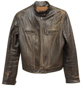Other D&g Leather Vintage Dark Olive Green Jacket