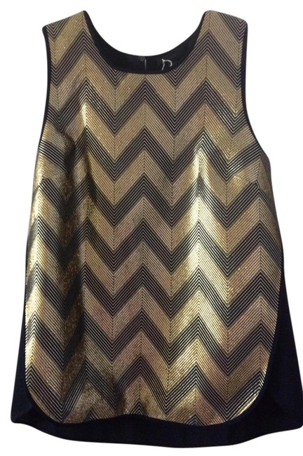 Preload https://item5.tradesy.com/images/jcrew-blue-gold-gilded-chevron-mixed-metallic-navy-shell-78-blouse-size-6-s-21558499-0-2.jpg?width=400&height=650