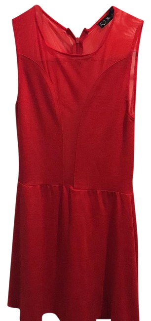 Preload https://img-static.tradesy.com/item/21558509/for-love-and-lemons-red-mesh-flashy-short-night-out-dress-size-2-xs-0-1-650-650.jpg