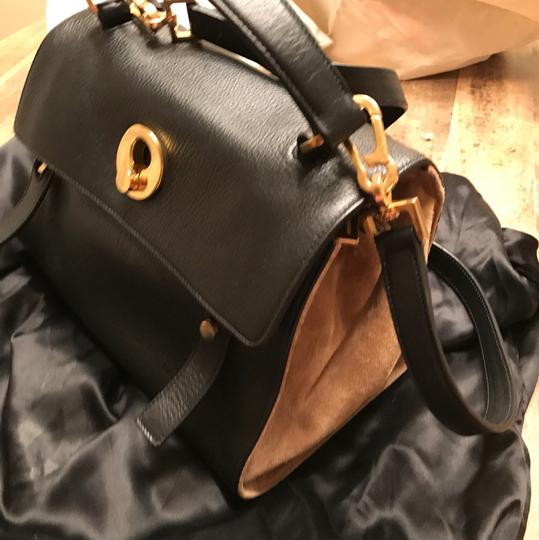 Saint Laurent Satchel in black and beige