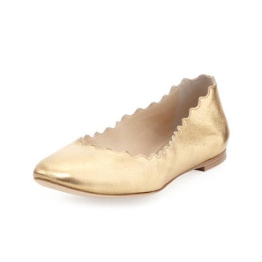 Preload https://item4.tradesy.com/images/chloe-gold-scalloped-metallic-leather-ballerina-flats-size-us-65-regular-m-b-21558718-0-0.jpg?width=440&height=440