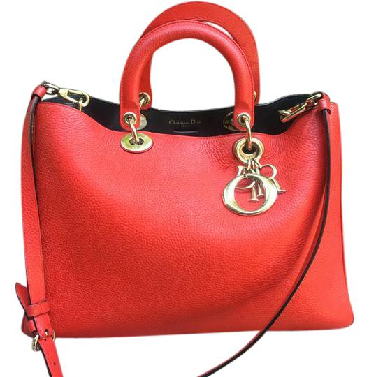 Preload https://img-static.tradesy.com/item/21558786/dior-large-diorissmo-red-leather-satchel-0-2-540-540.jpg