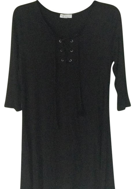 Preload https://item4.tradesy.com/images/socialite-black-lace-up-cotton-short-casual-dress-size-6-s-21558793-0-2.jpg?width=400&height=650