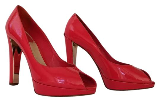 Dior Christian Heel High Heel Pink red Pumps
