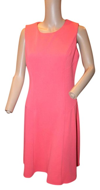 Preload https://item5.tradesy.com/images/ronni-nicole-coral-fit-and-flare-short-workoffice-dress-size-4-s-21558819-0-2.jpg?width=400&height=650