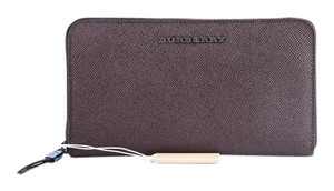 Burberry * Burberry Zip Around Deep Claret Wallet