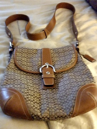 Coach Jacquard Leather Shoulder Bag
