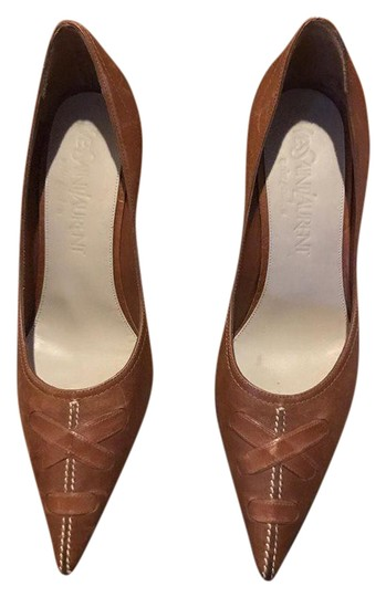 Preload https://item4.tradesy.com/images/saint-laurent-brown-ysl-pointly-toe-35-made-in-italy-leather-pumps-size-us-5-regular-m-b-21558883-0-1.jpg?width=440&height=440