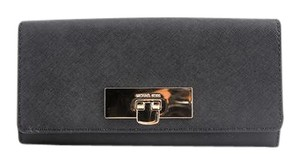 Michael Kors * Michael Kors Callie Carryall Leather Wallet Black