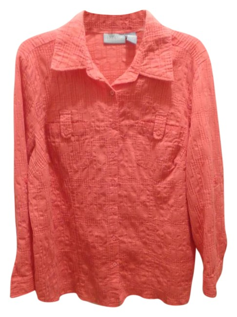 Preload https://img-static.tradesy.com/item/21558954/coral-blouse-button-down-top-size-16-xl-plus-0x-0-1-650-650.jpg