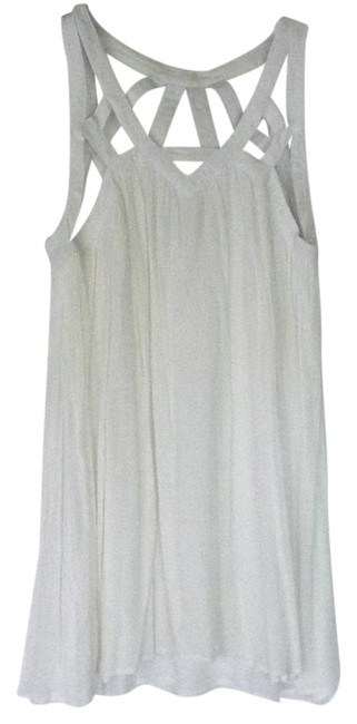 Preload https://item5.tradesy.com/images/white-cage-top-gauze-flown-short-casual-dress-size-12-l-21559049-0-1.jpg?width=400&height=650