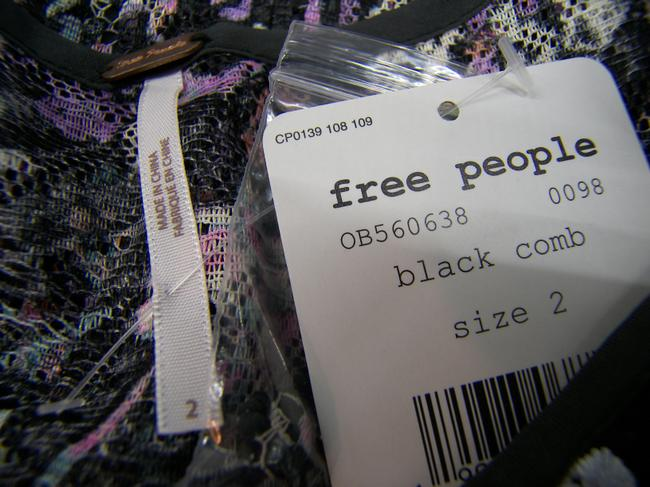 Free People short dress Black Combo #0098 Luxurious Intricate Piece De Resistance on Tradesy