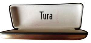 Tura Tura Brushed Chrome Eyeglasses Case