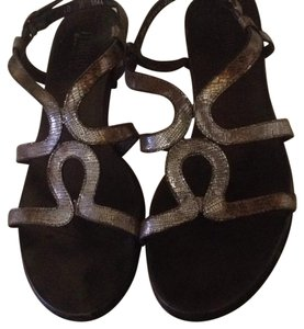 Munro American Silver with bronze. Sandals