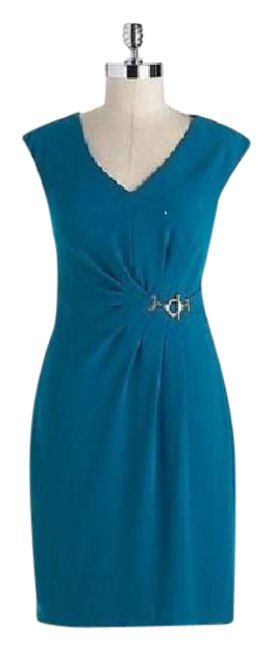 Preload https://item5.tradesy.com/images/ivanka-trump-emerald-green-crepe-vneck-short-workoffice-dress-size-6-s-21559194-0-1.jpg?width=400&height=650