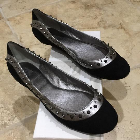 Belle by Sigerson Morrison black & silver Flats