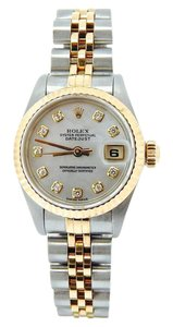 Rolex Ladies Rolex Two-Tone 18K/SS Datejust White MOP Diamond 69173