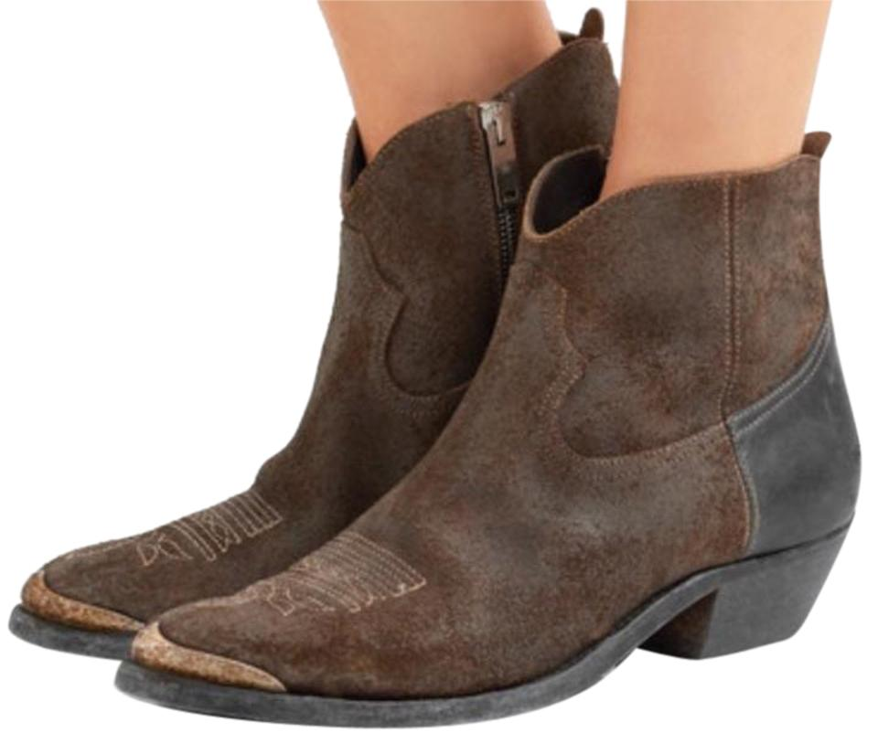 e30fa641f7a Golden Goose Deluxe Brand Brown Suede Young Boots/Booties Size US 5 Regular  (M, B)