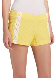 Lilly Pulitzer Textured Shorts Yellow