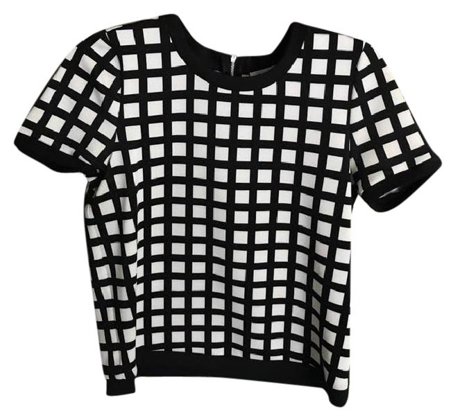 Preload https://item5.tradesy.com/images/calvin-klein-black-and-white-ck-checkered-blouse-size-2-xs-21559349-0-2.jpg?width=400&height=650