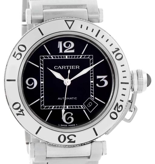 Preload https://item4.tradesy.com/images/cartier-black-pasha-seatimer-dial-stainless-steel-w31077m7-watch-21559358-0-2.jpg?width=440&height=440