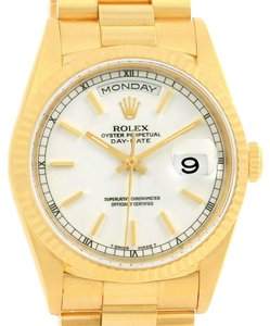 Rolex Rolex President Day-Date 18k Yellow Gold White Dial Mens Watch 18238