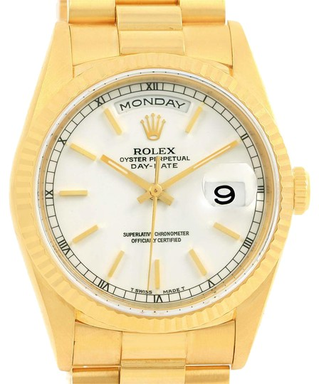 Preload https://item3.tradesy.com/images/rolex-white-president-day-date-18k-yellow-dial-mens-18238-watch-21559382-0-2.jpg?width=440&height=440