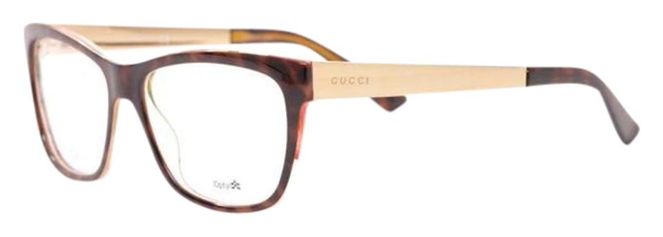 b757466615 Gucci Gucci GG 3741 2EZ Havana Brown Gold Women s Eyeglasses 54mm gg3741  2ez Image 0 ...