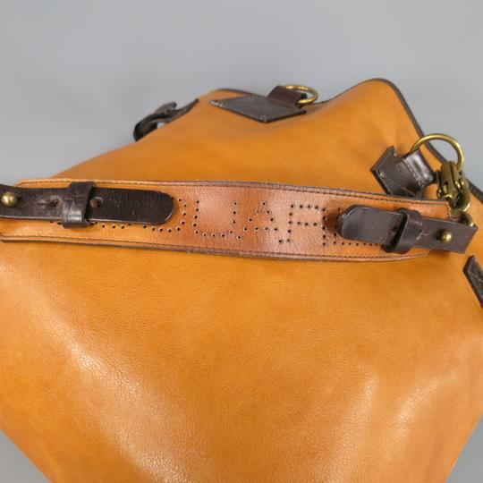 Dsquared2 Leather Italian Logo Belted Tote in Tan